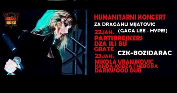 Dva humanitarna koncerta 22. i 23. januara za Gagu Lee