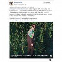 Instagram bacio oko na Lukea Blacka