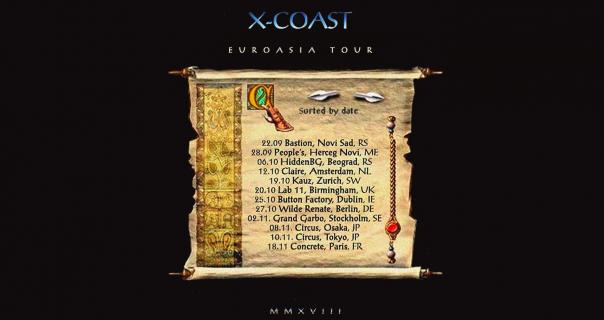X-Coast u HiddenBG kući ove subote